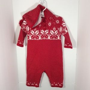 HANNA ANDERSSON Sweater Jumpsuit Outfit 70 6-12